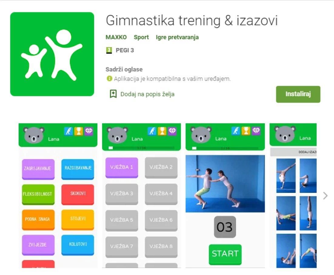 Aplikacija za vježbanje